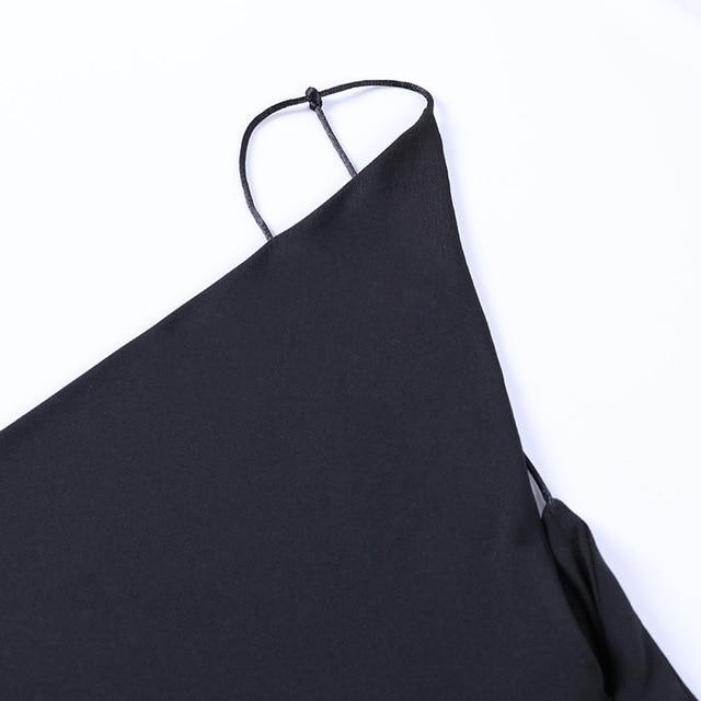 Satin Women Strap Midi Dress Stacked Backless Bodycon Sexy Streetwear Party Elegant 2021 Summer Festival Club Dresses 6