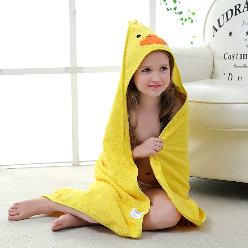 Animal Shaped Baby Hooded Bathrobe Soft Infant Newborn Bath Towel Blanket  Baby Bath Swaddle Bath Towels