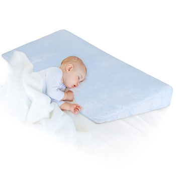 15 Degree Incline Baby Wedge Pillow with Non Skid bottom Prevent the Baby to Slide Down