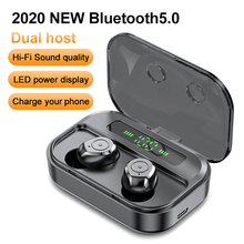 M7s TWS אלחוטי אוזניות Bluetooth V5.0 2600mAh הכפול מארח HIFI סטריאו קול רעש Concelling אוזניות משחקים עבור IOS אנדרואיד