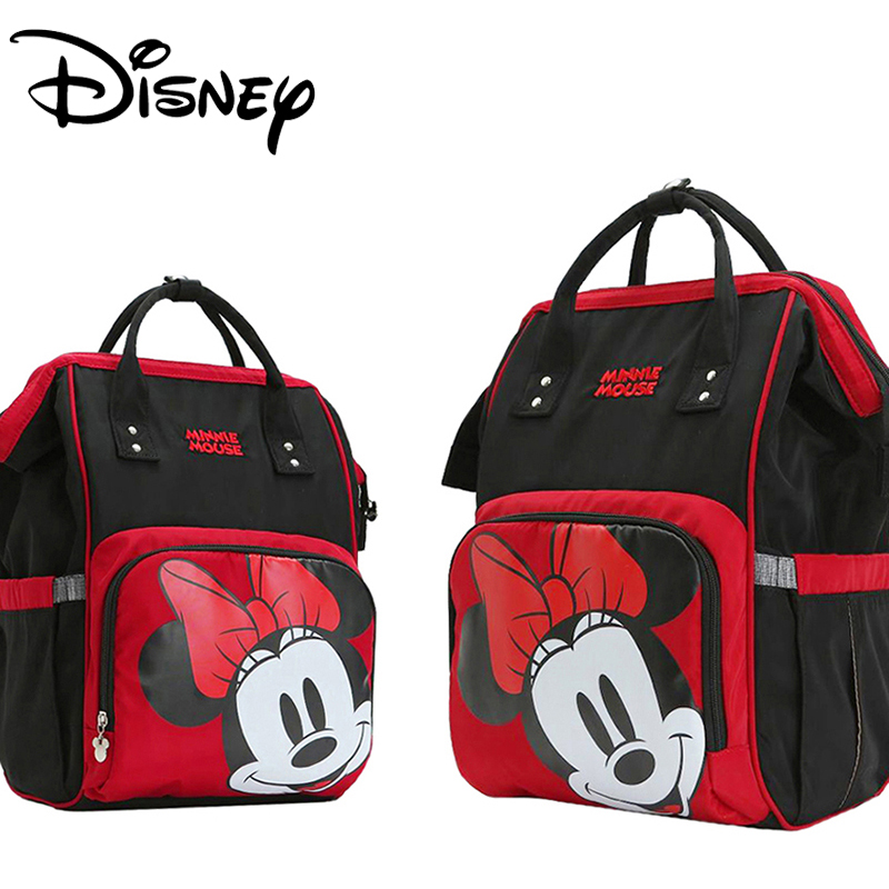 Disney Diaper Bags Backpack Minnie Mickey Mouse Mummy Bag Stroller Capacity Trav
