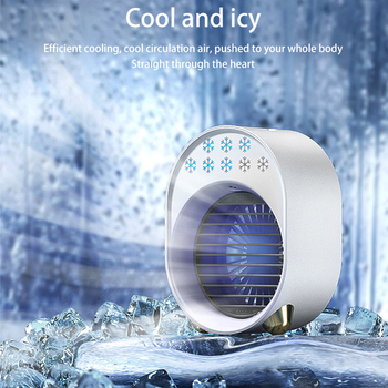 Nowy Mini klimatyzator chłodnica wentylator USB 7 kolory jasne przenośny klimatyzator przestrzeń osobista chłodzenie powietrzem wentylator chłodniczy tanie i dobre opinie XIONGXIN Rohs CN (pochodzenie) ABS+ electronic components Micro USB Mini Air Conditioner Air Cooling Fan Air Cooler Fans USB