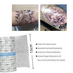 Image 2 - 10 m 문신 용품 액세서리 flm 문신 보호를위한 케어 문신 붕대 솔루션 후 보호 통기성 문신 필름