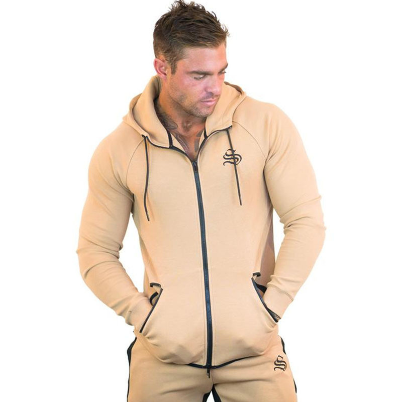 Image 5 - Sportswear Tracksuits Men Sets Running Gym Tracksuit Fitness Body building Mens Hoodies+Pants Jogger Sport Suit Men Clothing-in Men's Sets from Men's Clothing
