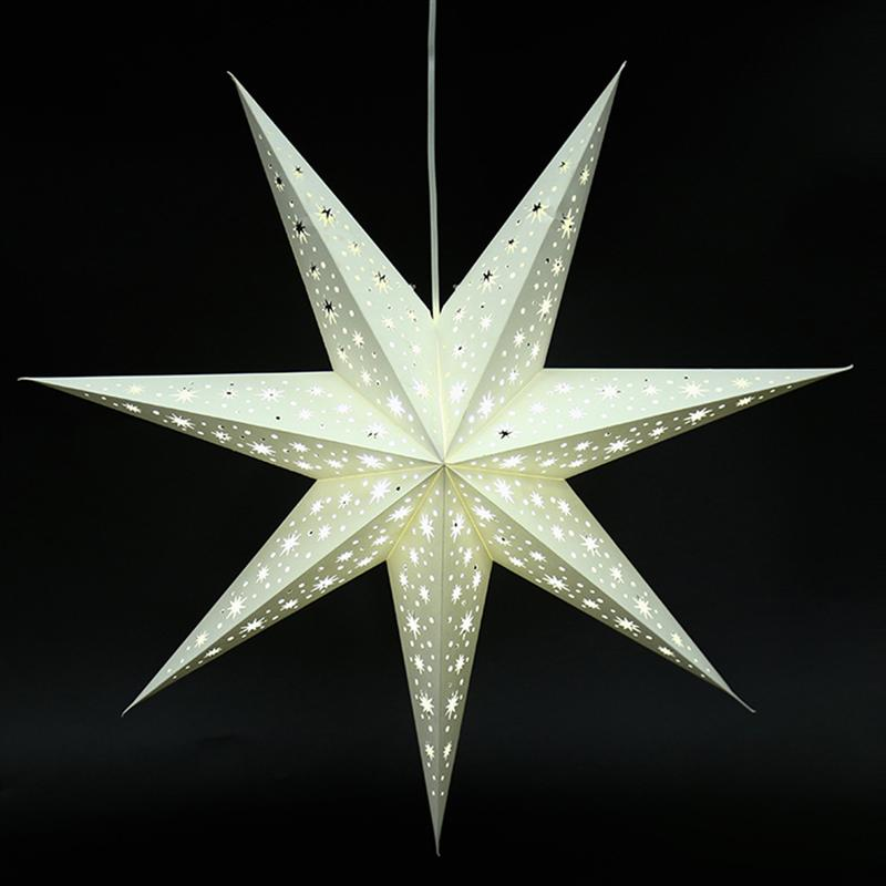 Полый Бумажный Фонарь звезда 3D пентаграмма абажур для Рождества Рождество вечерние Holloween День рождения Висячие украшения Аксессуары