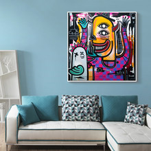 Modern Wall Art Abstract Skulls Posters and Prints Canvas Paintings By Joachim Wall Pictures For Living Room Cuadros Home Decor(China)