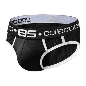 Image 3 - 85 Brand male underwear sexy gay jockstrap men briefs cueca tanga breathable kincker for men bikini briefs cotton male pants