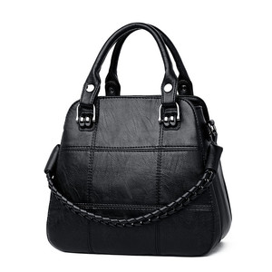 Image 2 - أسود دفع المرأة حقيبة اليد غير رسمية حقائب اليد الإناث كبيرة الحجم امرأة حقيبة الكتف للسيدات Bags حقائب اليد جلد طبيعي