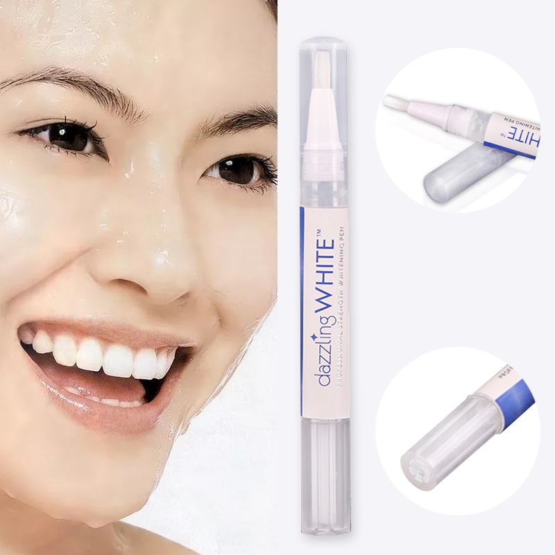 Купить с кэшбэком 2 pcs Teeth Whitening Rotary Peroxide Gel Tooth Cleaning Kit Easy to Carry Dazzling White Teeth Whitening Pen