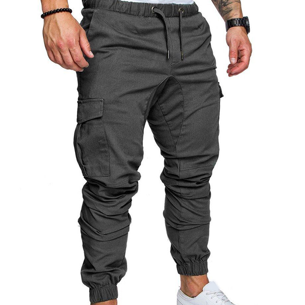 Fashion Men's Jogger Casual Slim Fit Jogging Sportwear Sweatpants Pencil Cargo Trousers Tracksuit Fabala Pants Long Pants Sports