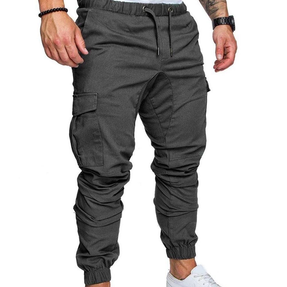 Mens Black Slim Fit Cargo Pants