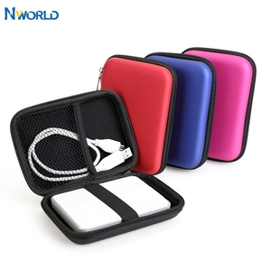 External Storage USB Hard Drive Disk HDD Carry Case Cover Cable Multifunction Earphone Pouch Bag For PC Laptop Portable 2.5