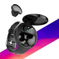Reloj inteligente TWS, con auriculares inalámbricos por Bluetooth, dos en uno, 1,54 pulgadas, con llamadas, música, banda deportiva, para Android IOS