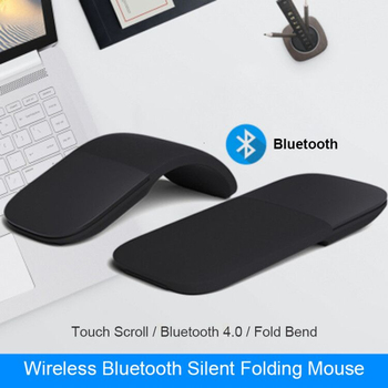 For Microsoft Surface Bluetooth Foldable Wireless Ergonomic Arc Touch Computer Mouse 3d Silent Laser PC Mause For Windows Laptop 1