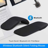 For Microsoft Surface Bluetooth Foldable Wireless Ergonomic Arc Touch Computer Mouse 3d Silent Laser PC Mause For Windows Laptop