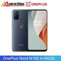 Global Version OnePlus Nord N100 4GB 64GB Smartphone 6.52'' 90Hz 5000 mAh 13MP Triple Cameras 18W Fast Charge 4G Mobile Phone 1