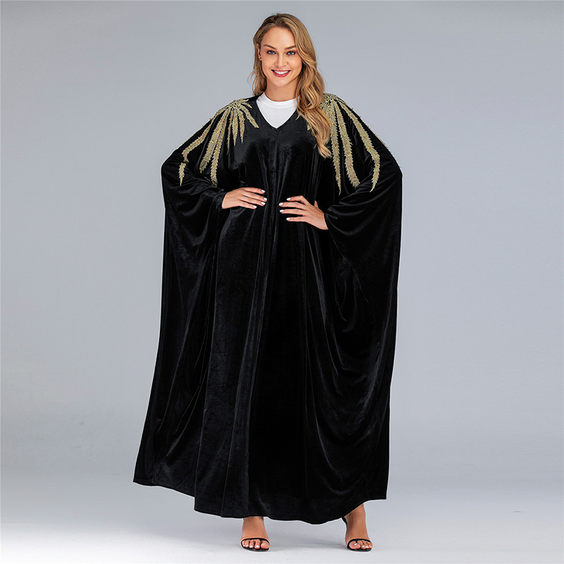 Vestidos Velvet Abaya Arabic Long Maxi Muslim Dress Women Kaftan Caftan Elbise Eid Hijab Turkish Dresses Robe Musulmane Longue