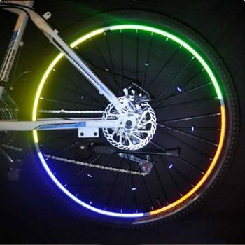 Mountainbike Fahrrad Felge Reflektierende Aufkleber Decals Schutz Safety MTB Reflektor