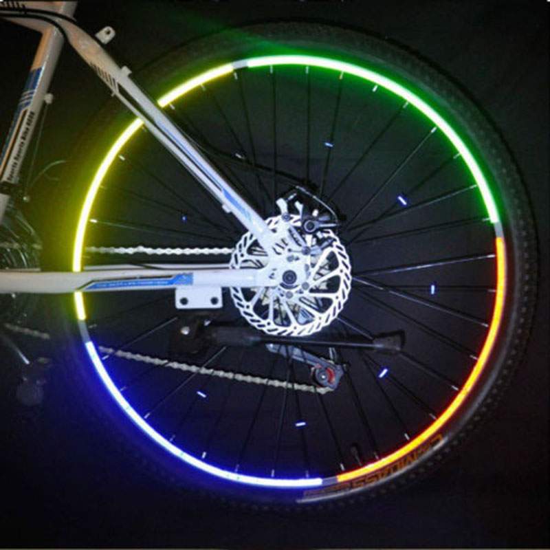 Mountainbike Fiets Velg Reflecterende Stickers Decals Protector Veiligheid MTB Reflector