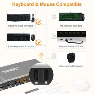 Image 4 - 2x1 KVM Switch 4K60Hz HDMI KVM Switch 2port TESmart HDMI Switch Support 3840*2160/4K*2K and USB 2.0 Ports Keyboard and mouse