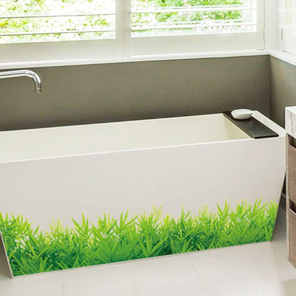 Fresh Green Grass Baseboard PVC Wall Stickers Nursery Balcony Home Room Decor QK
