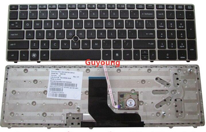 Английская клавиатура для ноутбука HP ProBook 6560b 6565b 6570b для EliteBook 8560p 8570P 8560B US