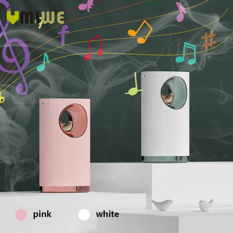Music Air Humidifier Ultrasonic Protable Rechargeable Quiet Soothing Stress Relieve 400ML USB Aroma Essential Oil Diffuser Light