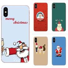 Transparent Soft Case For Huawei P7 P8 P9 P10 P20 P30 Lite Mini Plus Pro Y9 Prime P Smart Z 2018 2019 Cartoon Santa Claus(China)