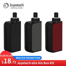 FR ES magazyn oryginalny Joyetech eGo Aio skrzynka narzędziowa z 2100mAh wbudowany akumulator 2ml pojemność BF SS316 cewka elektroniczny papieros tanie tanio Metal Joyetech eGo AIO Box Kit 1500 mAh