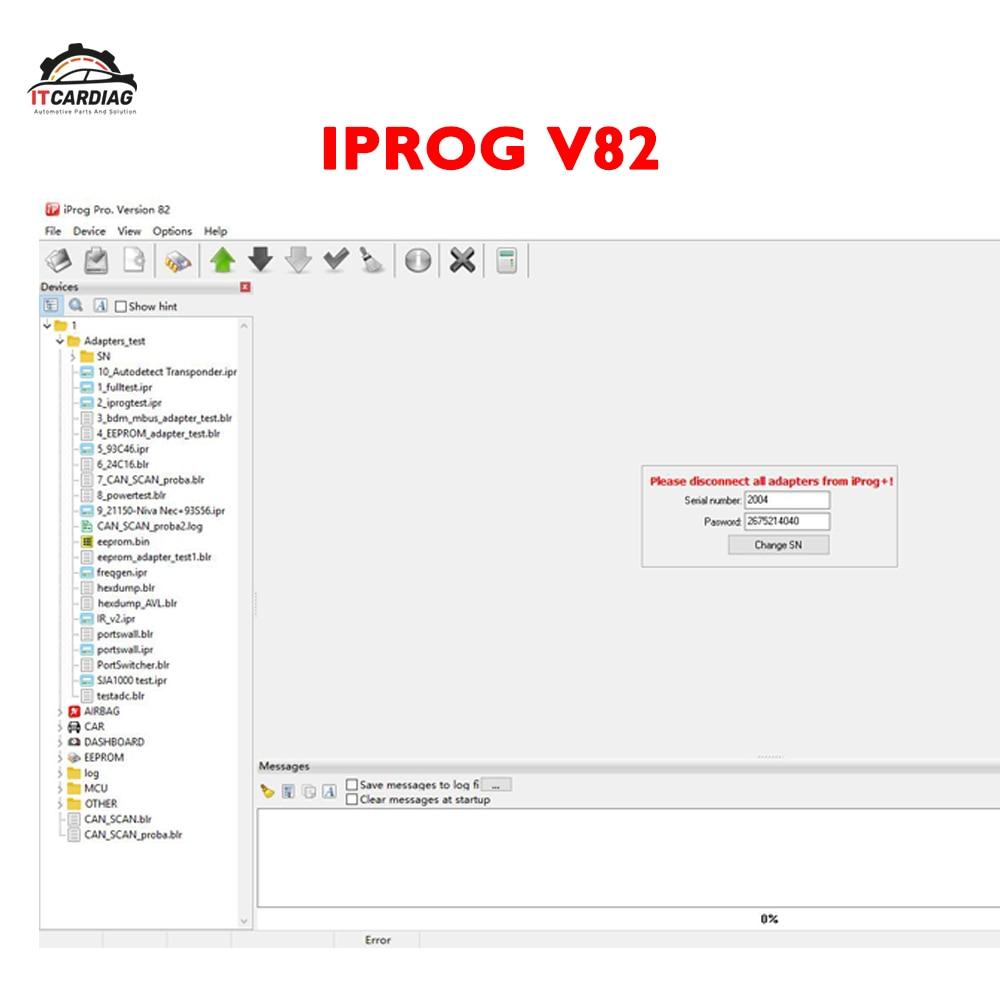 V82 Iprog+ Iprog Pro Software Link Support IMMO + Mileage Correction + Airbag Reset Till 2019 Replace Carprog/Digiprog/Tango
