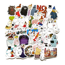 TD ZW Mini 2-3CM 40Pcs Hand Account Cartoon Lovely Moomin Stickers Waterproof Laptop Motorcycle Luggage Fridge Phone Sticker(China)
