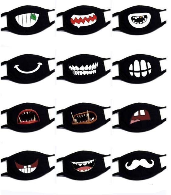 1PC Unisex Kawaii Anti Dust Mask Cotton Mouth Mask Cute Cartoon Mouth Muffle kpop Flu Face Mask Korean Masque Bear masks 2