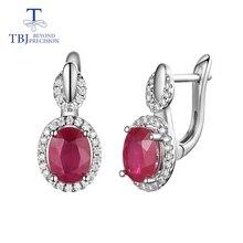 TBJ, классический дизайн, африканская Рубиновая застежка, серьги, натуральный драгоценный камень, серебро 925 пробы, ювелирные изделия для женщин, леди, хороший подарок