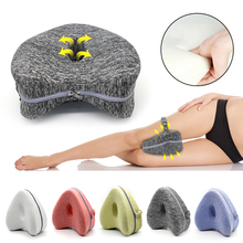 Leg Pillow Heart-shaped Memory Foam Knee With Washable Cover For Relief Back Hips Knees Pain