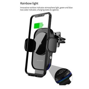 Image 5 - ワイヤレス車の充電器 15 ワットチー充電自動クランプセンサー空気ベント電話ホルダーiphone 11 xs xr × 8 サムスンS20 S10 S9