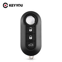 KEYYOU 10pcs 3 Buttons Remote Flip Key Shell For Fiat For Citroen Jumper Fit For Peugeot Boxer 2008 2015 Replacement Uncut Case