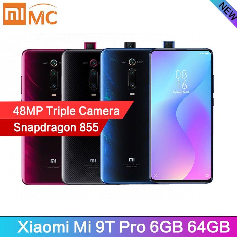 Versão Global Xiao mi mi 9T Pro 6GB GB Telemóvel Snapdragon 855 48MP 64 AI Câmera Triplo 4000mAh 6.39