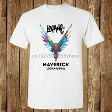 NEW MAVERICK 2017 BIRD LOGO LOGAN PAUL NEW UNISEX USA SIZE T-SHIRT EN1(China)