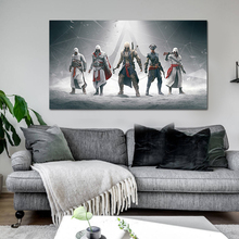 Cartoon Canvas poster print Painting Assassin Creed Modern Wall art picture Room Thuis Home Decor for boy gift unframed