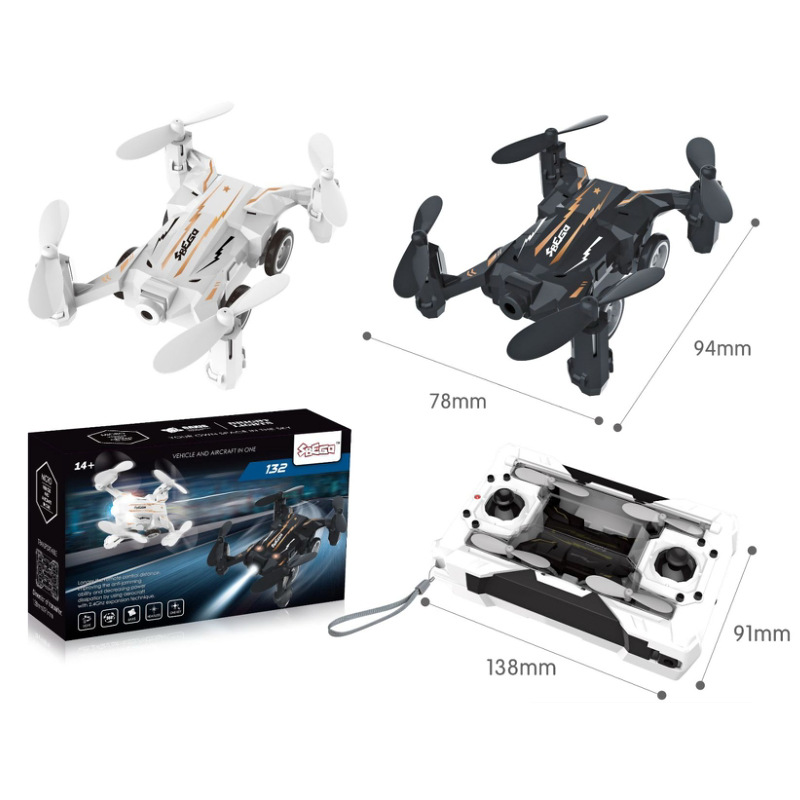 2.4G Remote Control Mini Four-axis Pocket Aircraft Unmanned Aerial Vehicle Air Dual Purpose Coaster Aviation Model Toy