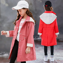 Girls trench coats kids windbreaker 2019 spring autumn new teenage long outerwear for children clothes 5 7 9 11 13 Year