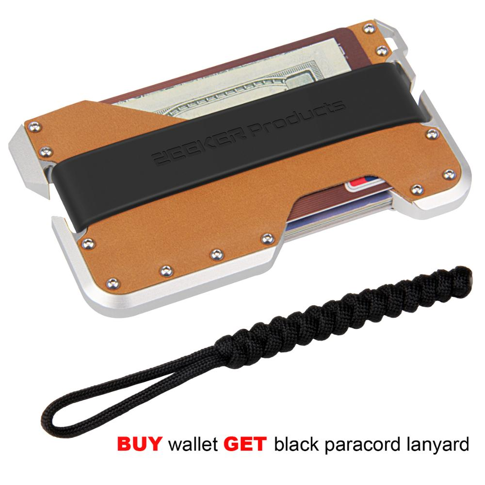 Black Black Men RFID Credit Card Holder Protector Slim Metal Business Card Case for Women or Men