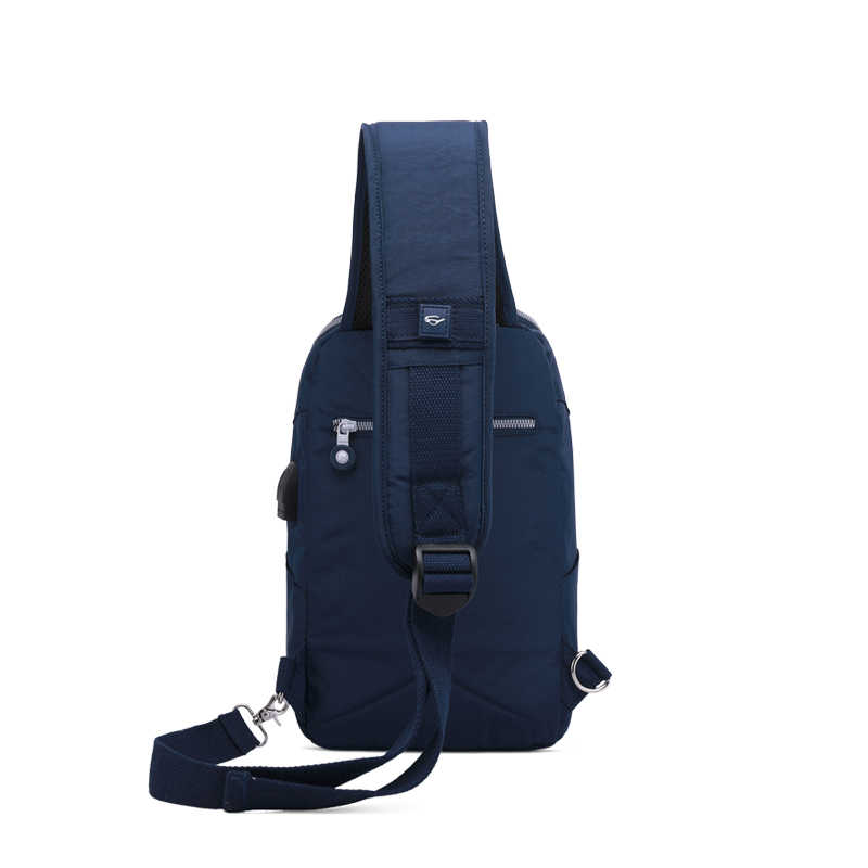 TEGAOTE Sling Bag Nylon Chest Pack Men Messenger Bags Casual Travel Fanny Flap Male Small Retro Shoulder Bag USB Charge Newest