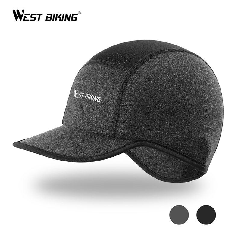 WEST BIKING Summer Men Cap Outdoor Sport Running Caps MTB Bike Quick-drying Bandana Headband Ice Silk Anti-UV Cycling Helmet Hat