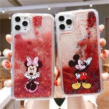 Cute Cartoon Stich Glitter phone case for iphone 11 Pro X Xs Max Xr 6 6S