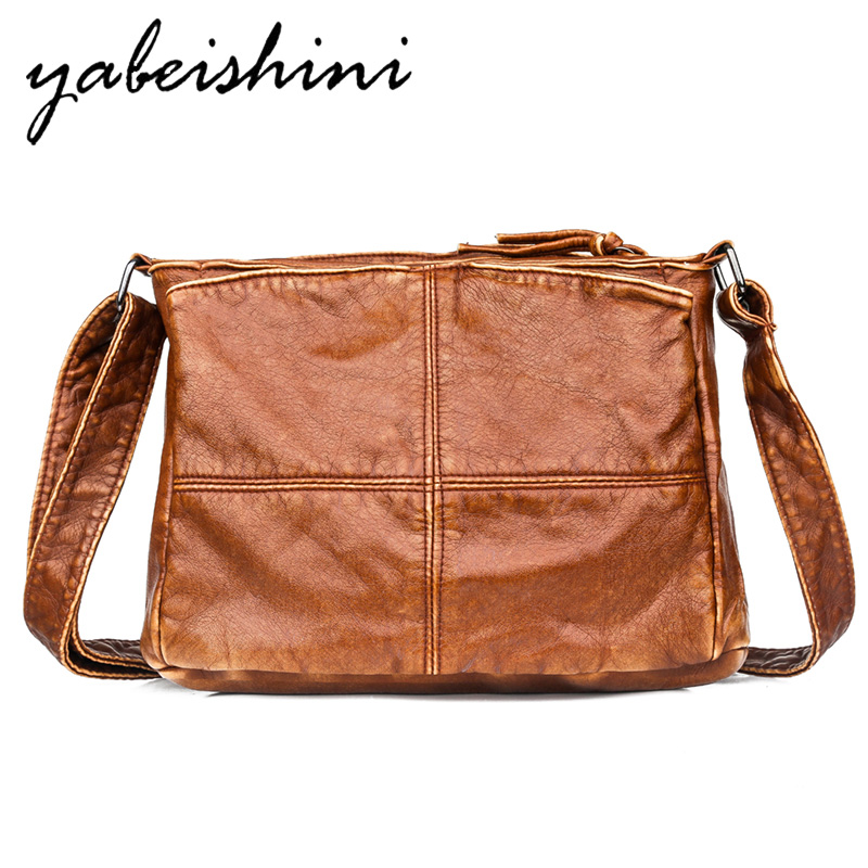 New Brown Leather Crossbody Bags For Women Bag Over Shoulder High Quality PU Bucket Bag Bolsos Mujer De Marca Famosa 2019 Heat Sell Female Messenger Bag Sac A Main Femme