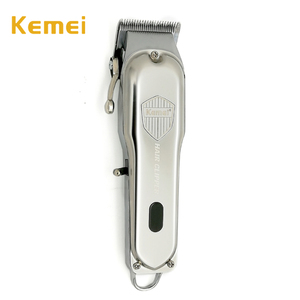 Машинка для стрижки волос Kemei, профессиональная мощная металлическая машинка для стрижки волос, электрический триммер с жк-дисплеем, машинк...