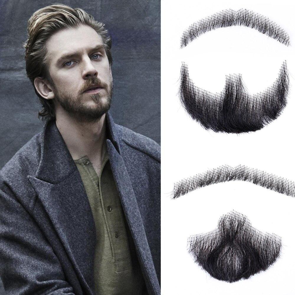 Aiyee falso bigode feito à mão cabelo