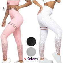 FlowerDance Women Sport Yoga Pants Professional Running Camo Seamless Leggings Tummy Control Fashion Hot