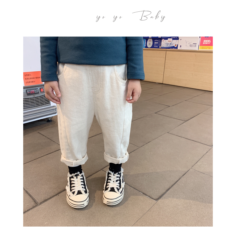 Boys and Girls Jeans Children Casual Denim Harem Trousers Spring and Autumn Clothes 2019 New Kids Leisure Cowboy Pants